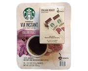 STARBUCKS CAFE VIA INSTANTANEO ITALIAN ROAST ARABICA DARK 26 UN